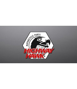 Zestaw srebrnych wsporników toreb podsiodłowych. Producent: Highway Hawk.
