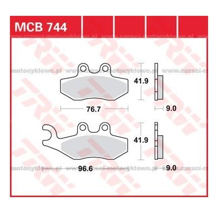 Klocki hamulcowe TRW MCB744SRM