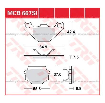 Klocki hamulcowe TRW MCB667SI