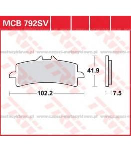 Klocki hamulcowe TRW MCB792SV