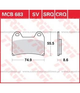 Klocki hamulcowe TRW MCB683SV
