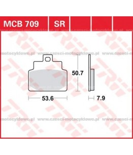 Klocki hamulcowe TRW MCB709SRM