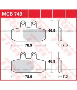 Klocki hamulcowe TRW MCB749SRM