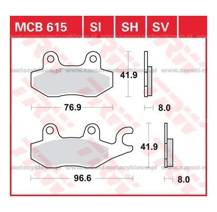 Klocki hamulcowe TRW MCB615SI