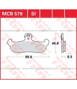 Klocki hamulcowe TRW MCB579