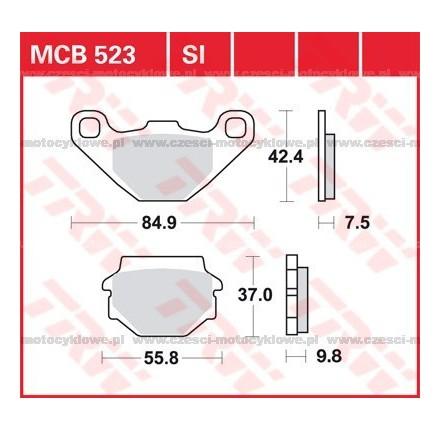 Klocki hamulcowe TRW MCB523SI