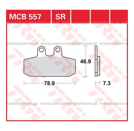 Klocki hamulcowe TRW MCB557SRM