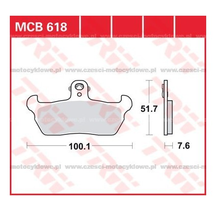 Klocki hamulcowe TRW MCB618