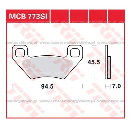 Klocki hamulcowe TRW MCB773SI