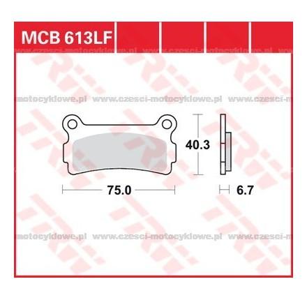 Klocki hamulcowe TRW MCB613