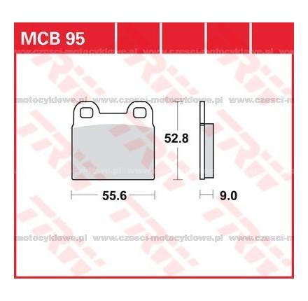 Klocki hamulcowe TRW MCB95