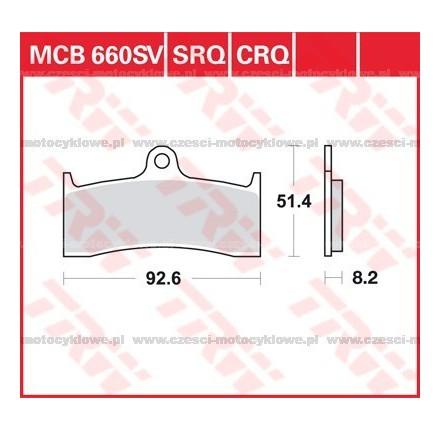 Klocki hamulcowe TRW MCB660SV