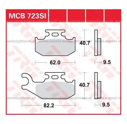 Klocki hamulcowe TRW MCB723SI