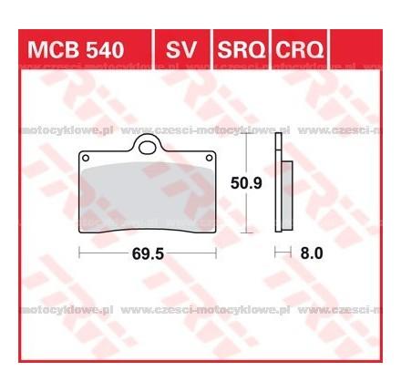 Klocki hamulcowe TRW MCB540