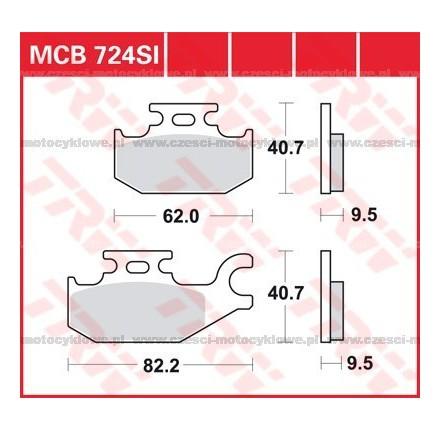 Klocki hamulcowe TRW MCB724SI