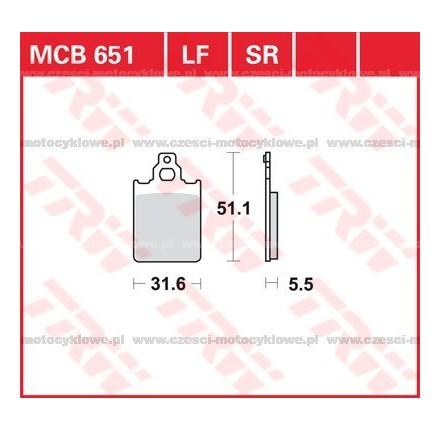 Klocki hamulcowe TRW MCB651