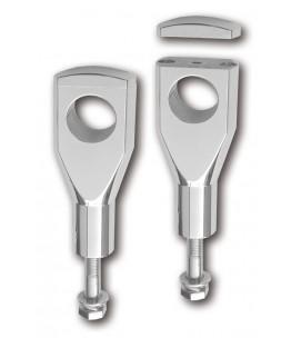 Mocowanie Alu-Riser z homologacją , połysk, 150mm, 1/4 cala, 32mm mocowanie, 12mm gwint, połysk
