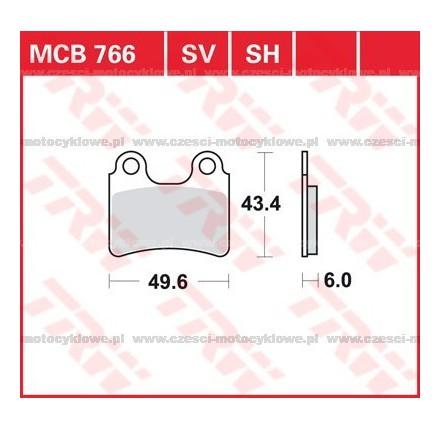 Klocki hamulcowe TRW MCB766