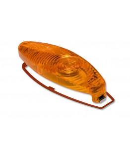 Szkiełko owalne z pomarańczową soczewka przeznaczona do kierunkowskazu Micro 1000. Wyrób posiada homologację EU na tył.