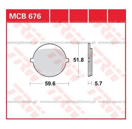 Klocki hamulcowe TRW MCB676