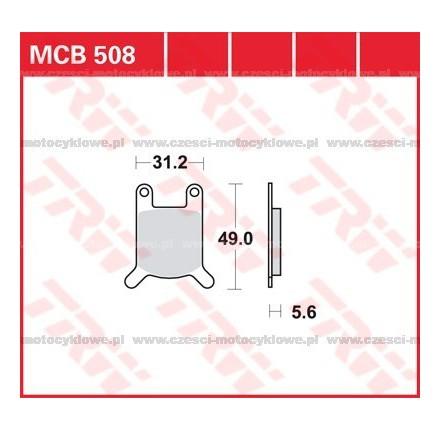 Klocki hamulcowe TRW MCB508