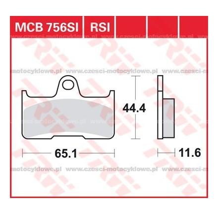 Klocki hamulcowe TRW MCB756SI