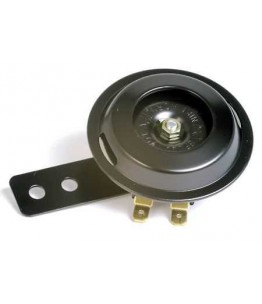 Klakson 12V czarny, średnica 70 mm, 100 dB, czarny, posiada homologację EU