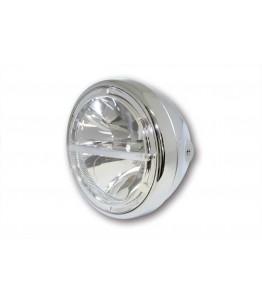 HIGHSIDER 7-calowy LED reflektor VOYAGE chrom, z homologacją EU