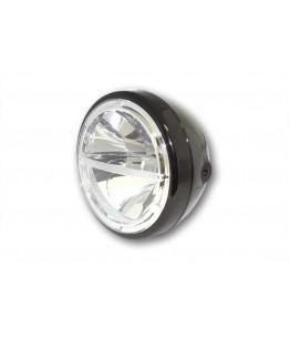 HIGHSIDER 7-calowy LED reflektor VOYAGE czarny, z homologacją EU