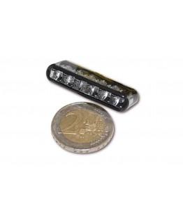 LED światło tylne SHORTY, dymione szkło, posiada homologację EU