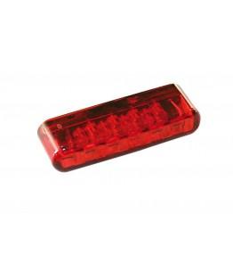 LED światło tylne SHORTY, czerwone szkło, posiada homologację EU