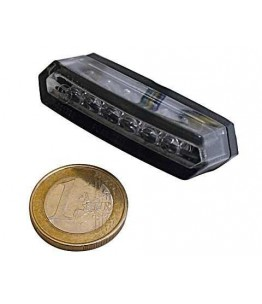 LED światło tylne MALIBU, czarna obudowa, dymione szkło, posiada homologację EU