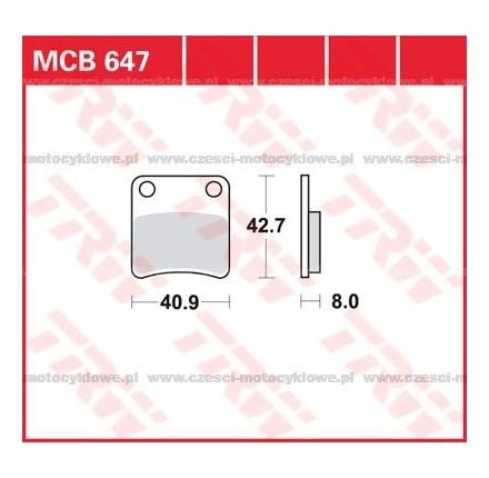 Klocki hamulcowe TRW MCB647