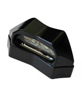Oświetlenie tablicy rejestracyjnej LED kolor czarny, ALU, E-homologacja