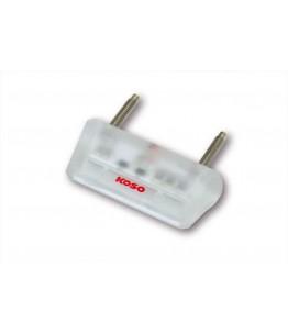 KOSO Mini LED Oświetlenie tablicy rejestracyjne, przezroczyste body, E-mark