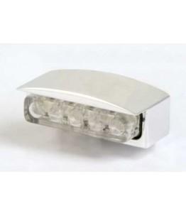 Oświetlenie tablicy rejestracyjnej ALU Mini-LED kolor srebro E-homologacja