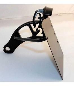 Czarny uchwyt do montażu na bocznej tablicy rejestracyjnej, modele HD Softtail , -84-07, w tym. Płyta tablicy rejestracyjnej 18