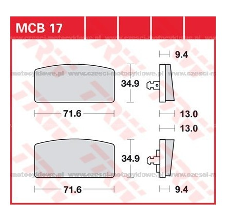 Klocki hamulcowe TRW MCB17