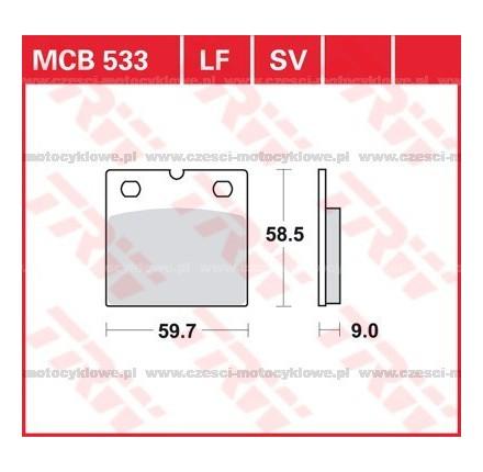 Klocki hamulcowe TRW MCB533
