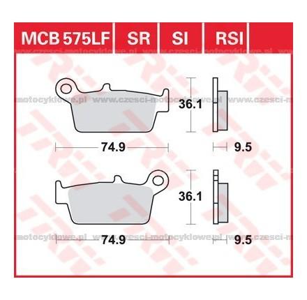 Klocki hamulcowe TRW MCB575SI