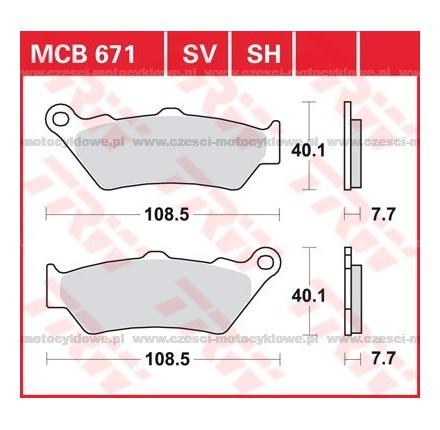 Klocki hamulcowe TRW MCB671SV