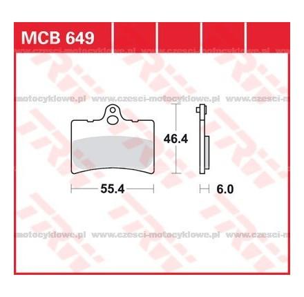 Klocki hamulcowe TRW MCB649