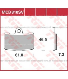 Klocki hamulcowe TRW MCB810SV