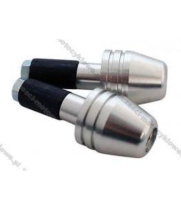 Końcówki kierownicy z aluminium - srebrne