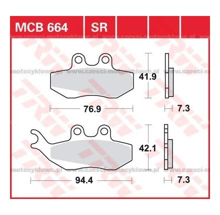 Klocki hamulcowe TRW MCB664SRM