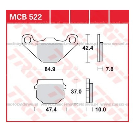 Klocki hamulcowe TRW MCB522