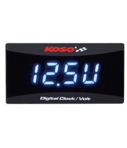 KOSO wskaźnik poziomu baterii/zegar do wszystkich akumulatorów 12V DC