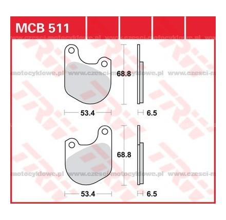Klocki hamulcowe TRW MCB511