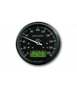 Chronoclassic prędkościomierz 0-200 km/h, czarny cyferblat, zielony wyświetlacz LCD