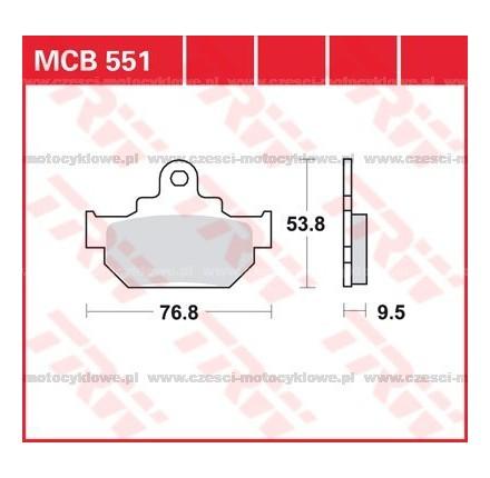 Klocki hamulcowe TRW MCB551